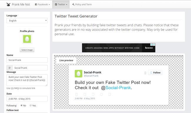fake twitter generator