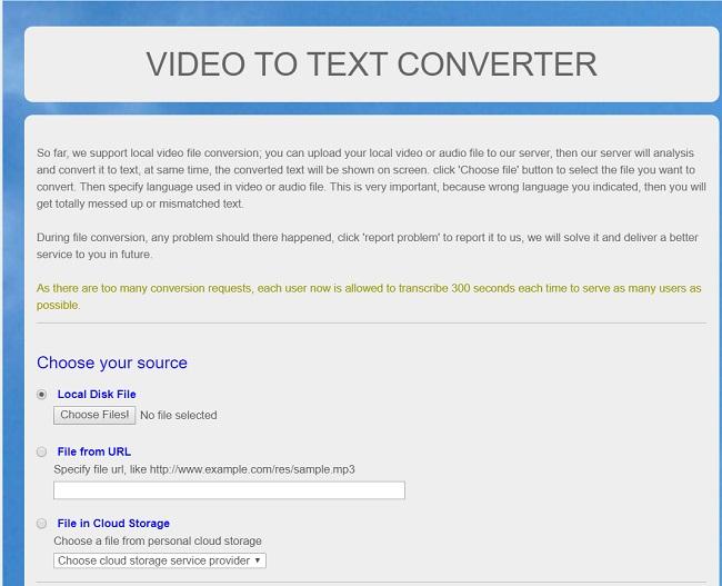 Audio to Text Converter