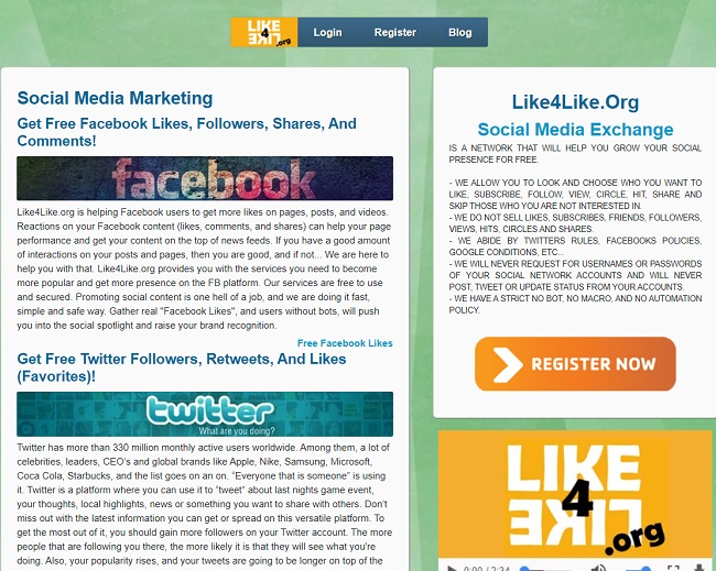 Social Media Exchange Websites