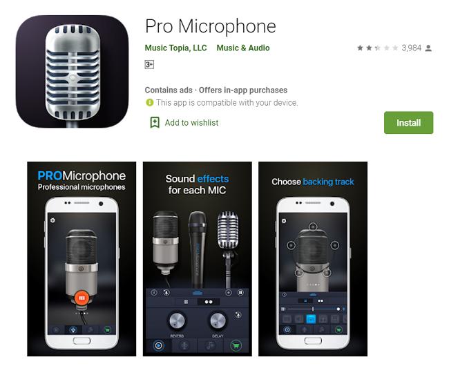 Microphone app