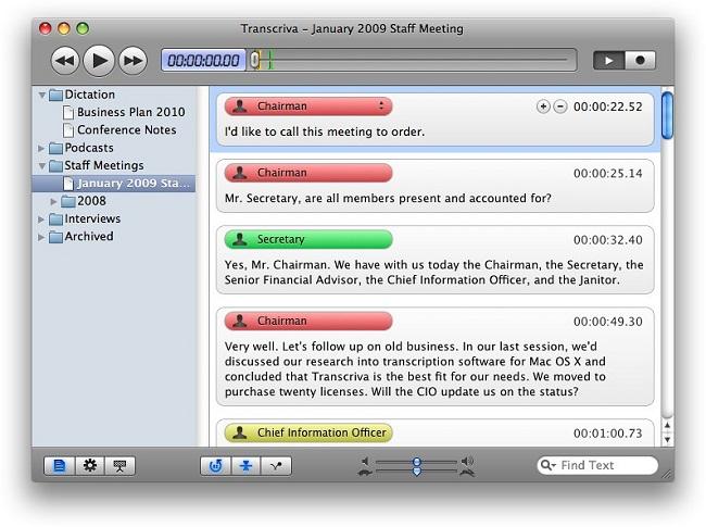 Transcription Software for Mac