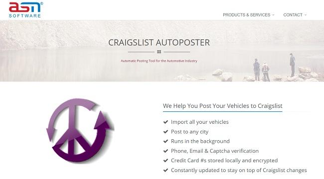 craigslist posting Software