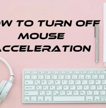 Turn Off Mouse Acceleration