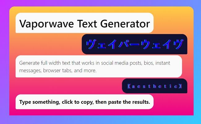 vaporwave text generator