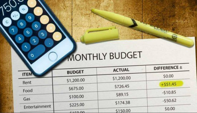 Monthly budget