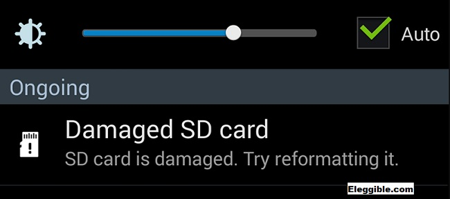 Corrupt MicroSD card