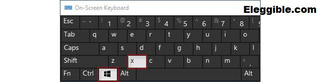 Press the Windows key