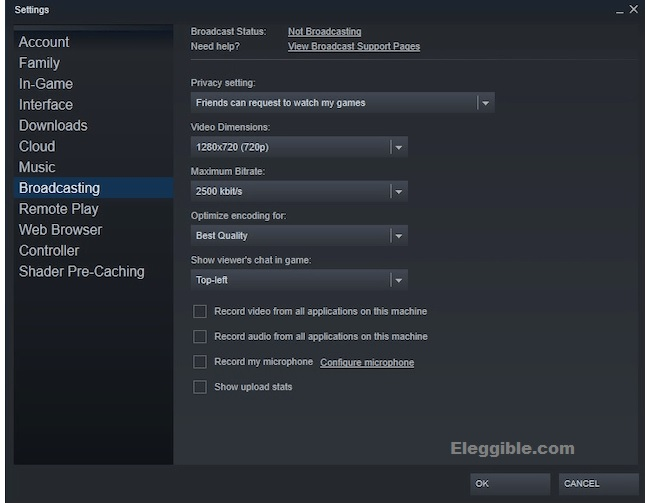 Steam broadcasting status steam how to start broadcast