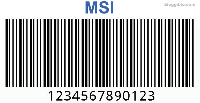 MSI Plessey intelligent mail barcoding