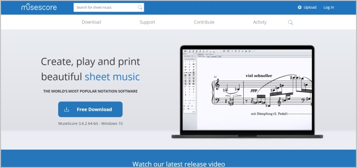 Musecore songwriting software