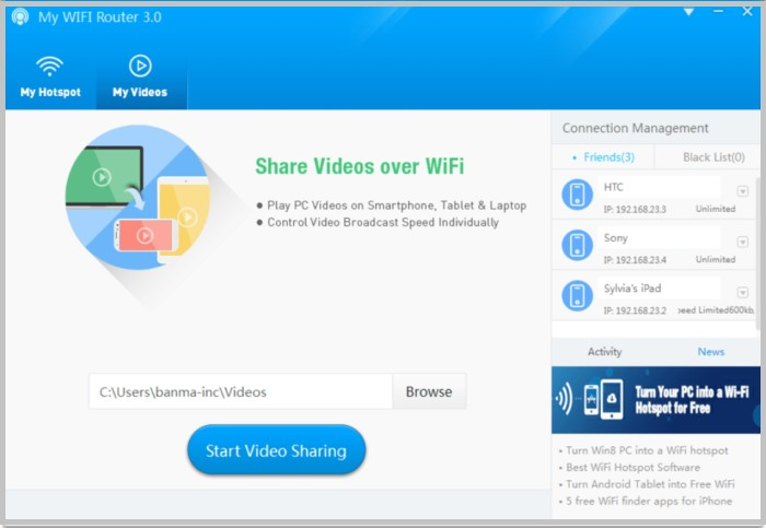 My WiFi Router virtual router software