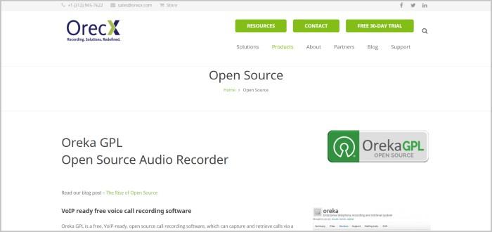 OrecX free call center software