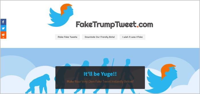 Fake Trump Tweet make a fake tweet