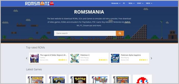 RomsMania safest place to download roms