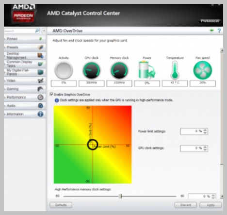 AMD Overdrive overclock program