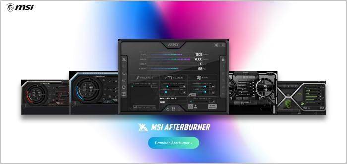 MSI Afterburner overclocking software